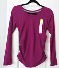 NWT Liz Lange Maternity Berry Top Long Sleeve Shirt Tee Size Sz S, M, L, XL NEW