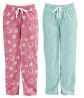 Womens Sleepy Print Fleece Winter Pyjama Trouser Bottoms Lounge Wear Pants