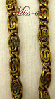 Paperclip Scroll VINTAGE SOLID Yellow BRASS Chain Necklace ALL Sizes Very LAST