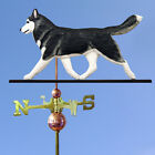Siberian Husky Hand Carved Hand Painted Basswood Dog Weat...
