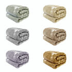 Plain Dyed Faux Fur Mink Sofa Lounge Bed Throw Blanket Rug 127 x 152cm