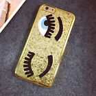 Bling Chiara Ferragni Big Eye Eyelash Case Cover for iPhone 6 6s Plus