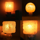 7W 110V Crystal Himalayan Natural Carved Salt Night Lamp Air Purifier Wall Light