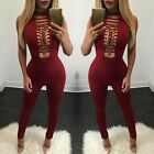 Fashion Long Sleeve Turtleneck Long Red Women Sequin Jumpsuit Sleeveless Zippers