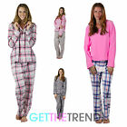 Womens Shirt Trouser Flannel Pyjamas Ladies Check Fleece Top Pj Pants Set Suit