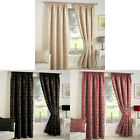 Curtina Crompton Damask Jacquard Pencil Pleat Lined Curtains