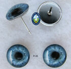 1 PAIR 8mm to 12mm Glass Cabochon Eyes Dolls, Jewelry, Sculpture, Craft CAB-PIN