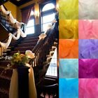 5M*1.35M Table Swags Sheer Organza Fabric DIY Wedding Party Stair Decoration