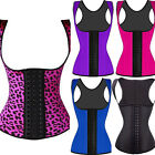 Latex Waist Trainer Bodyshaper Sport Steel Boned Vest Fixed Strap Corset Top