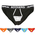 Men's Hot Enhance Bulge Sexy Bikini Cotton Underwear Pouch Thongs Y-Front Briefs