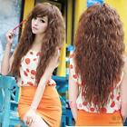 New Women CYHM Fashion Sexy long Full Curly Wavy Hair Wig Cosplay Party 3 Colors