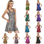 New Shimmer Metal Sparkly Mermaid Dragon Fit Scales Shiny Metallic Skater Dress