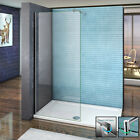 Aica Wet Room Screen Shower Enclosure Cubicle Panel and Tray 8mm NANO Glass