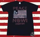 New Woodstock Peace Now! Flag Mens Vintage Retro T-Shirt image