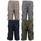 Boys Combat Cargo Shorts Kids 3/4 Length Sports Beach Casual Fashion Summer New