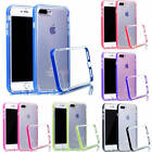 For Samsung iPhone New Transparent Back Colorful Frame TPU+PC Fitted Case Cover