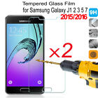 2X 9H Tempered Glass Film Screen Protector For Samsung GALAXY J3 J5 J7 2016 2015