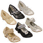 Girls Sandals Kids Diamante Sequin Knot Glitter Bow Mesh Toddlers Wedding Party