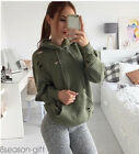 2017 New Women Sweatshirt Hoody Ripped Hole Jumper Hoodie Pullover Outwear Coat