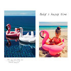 Summer Baby Inflatable Flamingos Swan Seat Boat Water Swim Ring Pool Swimming