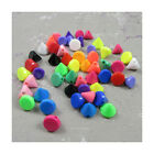CONE SHAPED ACRYLIC BEADS *17 COLOURS* *3 SIZES* JEWELLERY CRAFTS BEADING GIFTS