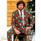Mens Christmas Tree Treemendous Opposuit Fancy Dress Costume Suit & Tie Outfit