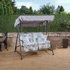 Mosca 2 Seater Garden Swing Seat - Charcoal Frame with Classic Cushions