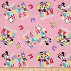 LICENSED MINNIE MOUSE DAFFY DUCK DISNEY KIDS CRAFT QUILT FABRIC Free Oz Post