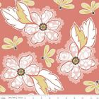 VALENCIA  MAIN FLORAL CORAL RILEY BLAKE QUILT SEWING FABRIC Free Oz Post