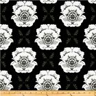 MOD STUDIOS MAIN FLORAL BLACK RILEY BLAKE QUILT SEWING FABRIC Free Oz Post