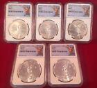 1999 - 2003-Mo Mexico Silver Libertad 1oz Silver Five Coin Set NGC MS67