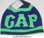 Baby Gap NWT Blue Neon LOGO * REVERSIBLE *  SWEATER BEANIE HAT CAP XS S M L