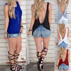 Women's Summer Vest Backless Sleeveless Blouse Casual Loose Tank Tops T-Shirt