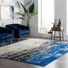 nuLOOM Abstract Contemporary Modern Area Rug Multi in Blue, Gray and Yellow