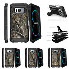 For Samsung Galaxy S8 G950 (2017) Clip Stand Case Tree Bark Hunter Camouflage