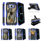 For Samsung Galaxy S8 G950 (2017) Clip Stand Blue Case Flying Duck