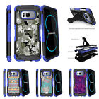 For Samsung Galaxy S8 G950 (2017) Clip Stand Blue Case Swamp Camouflage
