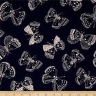 WHISPER BUTTERFLY NAVY WINDHAM QUILT SEWING FABRIC Free Oz Post