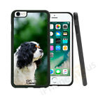 Black King Charles Spaniel Grip Side Gel Case Cover For All Top Mobile Phones