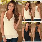 Women Lady Summer Lace Vest Top Sleeveless Casual Tank T-Shirt Blouse Tops R