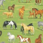 HORSES PADDOCK FARM QUILT SEWING FABRIC *Free Oz Post