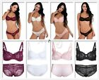 Sexy Women Lady Push up Lace Bra Set Brassiere Padded Lingerie Underwear A-D Cup