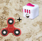 Fidget cube+Fidget Hand Spinner Focus Steel EDC Bearing Stress Toys RED