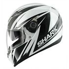 Helmet Shark S700s Line Up White integral moto with sun visor