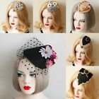 Hat Fashion Retro Fascinator Hair Accessories Pearl Hairpin Hair Clip Lady