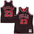 MICHAEL JORDAN Chicago BULLS 1995-96 AUTHENTIC Stripe MITCHELL and NESS Jersey