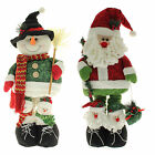 Free Standing Father Christmas Santa Snowman Decoration With Extendable Legs