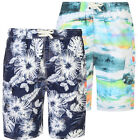 Mens KAM BIG SIZE Hawiian Floral Swim Cargo Shorts Beach Summer Mesh Lined 2-8XL