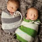 Newborn Baby Infant Boy Crochet Knit Sleeping Bag Photography Photo Props Outfit