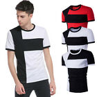 Stylish Men Summer Tee Shirt Short Sleeve Slim Crewneck T-shirt Shirts Tops Plus